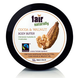 fair naturally Fairtrade Cocoa & Walnut Body Butter
