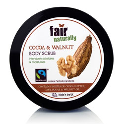 fair naturally Fairtrade Cocoa & Walnut Body Scrub