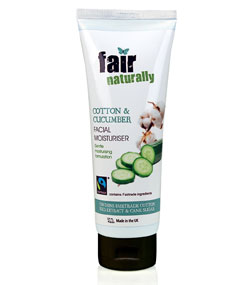fair naturally Fairtrade Cotton & Cucumber Facial Moisturiser